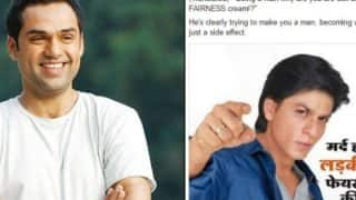 Shah Rukh Khan's defence for endorsing fairness creams will NOT make Abhay Deol very happy