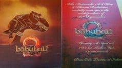 Baahubali 2 grand premiere invitation card redefines the meaning of royal! See Bahubali – The Conclusion movie invite pictures