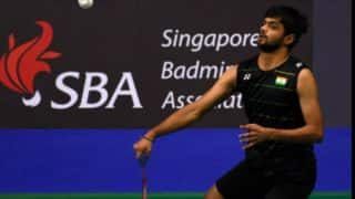 Sai Praneeth beats Lee Dong-keun to advance to final of Singapore Open 2017