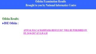 BSE Odisha Annual HSC, Madhyama Results 2017 today at 11:30 am, official notification released at orissaresults.nic.in