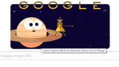 Cassini Spacecraft's Mission to Saturn almost over: Google Doodle celebrates the drive between Saturn and its rings