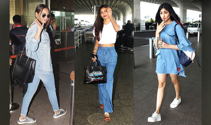 These celebs sported shades of blue to the airport to beat the summer heat