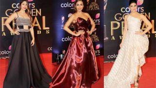 Malaika Arora, Jacqueline Fernandez and Tanishaa Mukherji floor us with their gowns at Colors Golden Petal Awards 2017