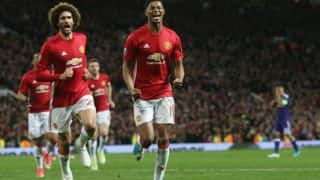 EPL 2017: Manchester United Beat Leicester City 2-0, Remain on Top of Points Table