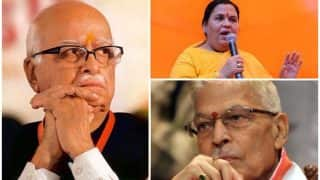 Babri Masjid demolition case: LK Advani, Uma Bharti, MM Joshi exempted from personal appearance in CBI court