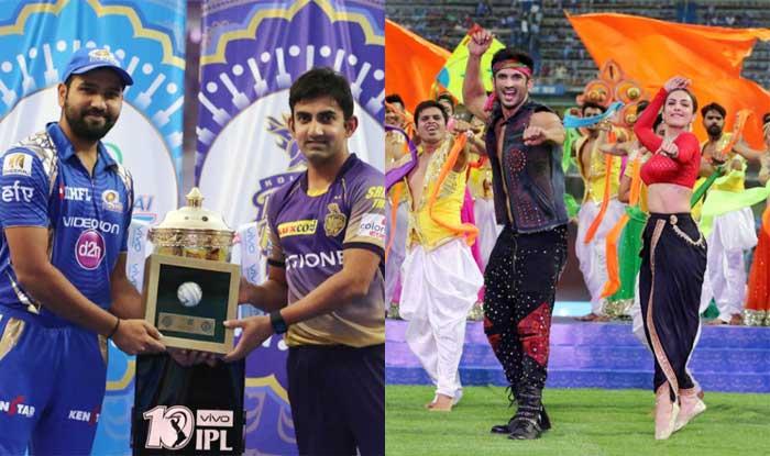 मुंबई के वानखेड़े स्टेडियम में आयोजित किया गया आईपीएल 2017 का उद्घाटन समारोह (BCCI)