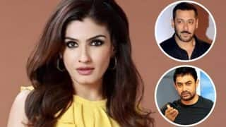 Did Raveena Tandon take a sly dig at Salman Khan and Aamir Khan romancing younger actresses? Watch EXCLUSIVE interview