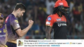 IPL 2017: Twitterati react as KKR bowl out RCB for lowest team total in Indian Premier League history