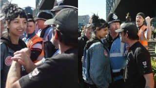 Saffiyah Khan defends woman in Hijab! See viral picture of British-Muslim woman defying EDL protester in Birmingham