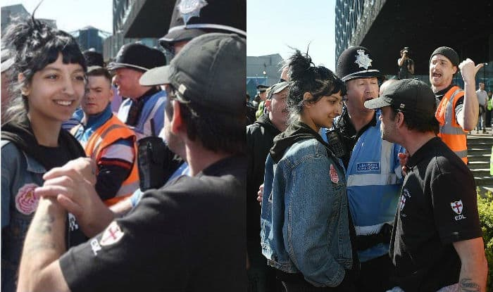 Who Was the Woman Who Smiled at an EDL Protester?