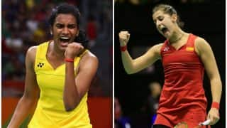 Marin beats Sindhu 21-11, 21-15 | PV Sindhu vs Carolina Marin, Singapore Open Super series, Live Score: Live Updates of Sindhu vs Marin, BWF Superseries 2017
