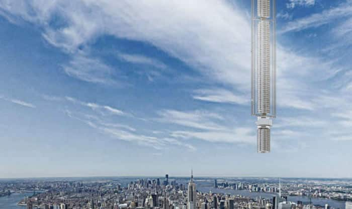 New York architects plan skyscraper hanging from an asteroid! (See pictures)