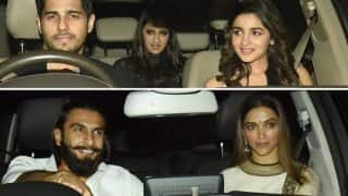 Deepika Padukone-Ranveer Singh, Alia Bhatt-Sidharth Malhotra are going strong and these pics from Karan Johar's party are a proof