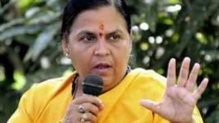 Uma Bharti cancels Ayodhya visit, after Supreme Court revives conspiracy charge against her in Babri Masjid case
