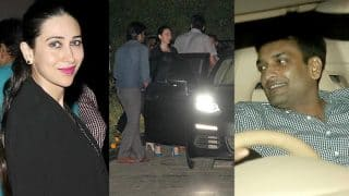 Karisma Kapoor & Sandeep Toshniwal go on a double date with Amrita Arora-Shakeel Ladak, what are they celebrating? (see pictures)