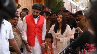 Aishwarya Rai Bachchan and Abhishek Bachchan pray for a lifetime of togetherness at Siddhivinayak temple - view HQ pics