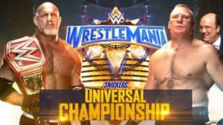WWE WrestleMania 33 Results & Highlights: Brock Lesnar defeats Goldberg to clinch WWE Universal Championship, The Undertaker loses to Roman Reigns