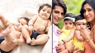 Naagin 2 actor Karanvir Bohra and Teejay Sidhu's twins Vienna and Raya Bella photoshoot pictures are too cute to handle!