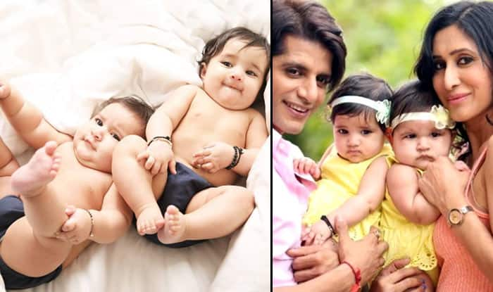 Naagin 2 actor Karanvir Bohra and Teejay Sindhu's twins Vienna and Raya Bella photoshoot pictures are too cute to handle!