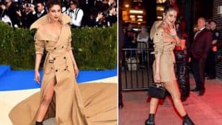 Priyanka Chopra's MET Gala trench-coat dress minus train looks equally grand at the after party! (See Pictures)
