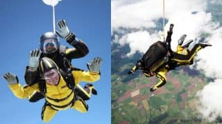 World's oldest tandem skydiver record broken by 101 and 38 days old great grandfather!