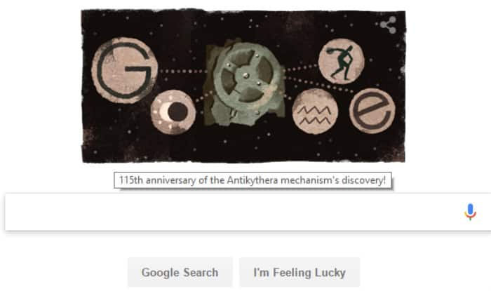 Google Doodle Celebrates the Discovery of an Ancient Celestial Computer