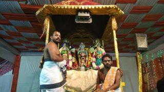Devotees throng Tirupati temple in Delhi during Brahmotsavams