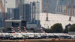 तकनीकी गड़बड़ी के कारण हीथ्रो हवाई अड्डे से ब्रिटिश एयरवेज की सभी उड़ानें रद्द