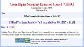resultsassam.nic.in  AHSEC Assam 12th HS final results 2017 today at 10.00 am, Check alternative links to download result