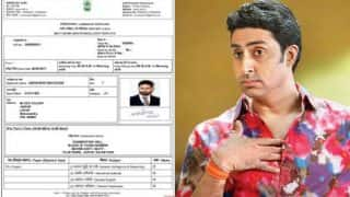 Abhishek Bachchan leaves Bollywood to appear for SSC examination for job? Viral admit card wants us to believe that!