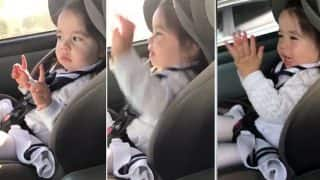 This toddler grooving to Bruno Mars' Uptown Funk exactly when beat drops is basically all of us (Watch Video)