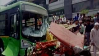 Delhi: 2 dead, 5 injured after DTC bus rams into vehicles in Azadpur, driver absconding