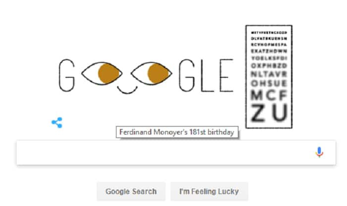 Google doodle focuses on ophthalmologist Ferdinand Monoyer