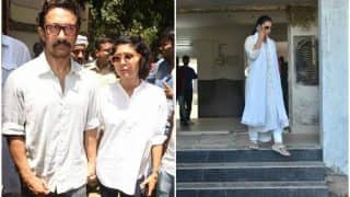 Reema Lagoo no more: Aamir Khan-Kiran Rao, Kajol reach the late actress's residence to pay their respects (see pictures)