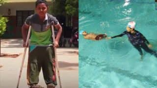 This disabled 11-year-old swims with dreams of entering International Paralympics, all thanks to his coach! (Watch inspirational Video)