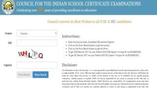 cisce.org ISC and ICSE Results 2017 Declared: Check your 10th and 12th results now on links at CISCE official website