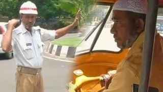 To educate his daughter this auto driver also works as traffic home guard