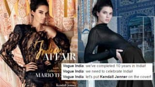 Kendall Jenner on Vogue India's 10th Anniversary edition enrages Twitterati who demand for an Indian face to be on the magazine cover