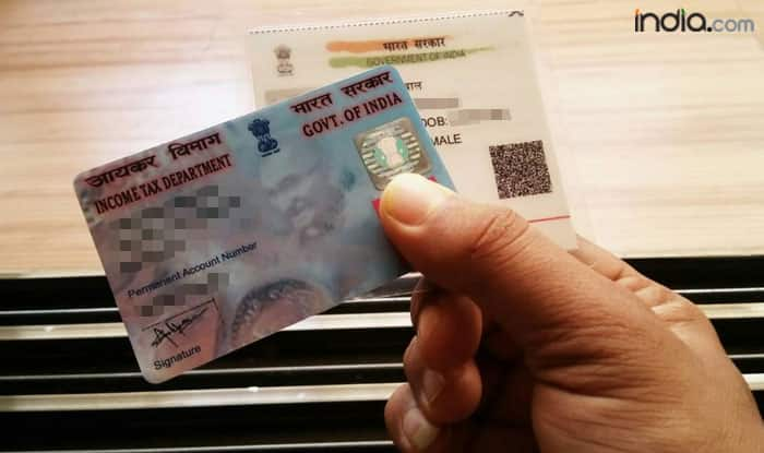 Linking PAN card to Aadhaar card