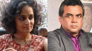 After Arundhati Roy's pro Kashmir comments prove fake, Paresh Rawal deletes his tweet against her!