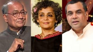 Paresh Rawal says tie Arundhati Roy to jeep instead of protester, Digvijaya Singh comes up with sharper reply