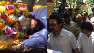 Reema Lagoo Funeral Pics & Video: Bollywood mourns the death of veteran actress, attend the last rites to pay homage!