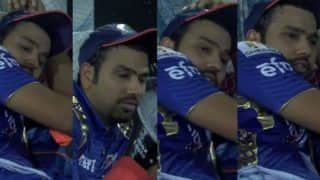 Was Rohit Sharma sleeping during RPS vs MI IPL 2017 final? Watch video