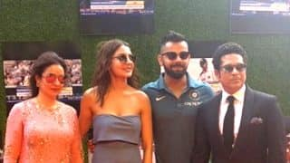 Sachin: A Billion Dreams: Anushka Sharma - Virat Kohli and the entire Indian cricket team arrive in STYLE at Sachin Tendulkar film's premiere