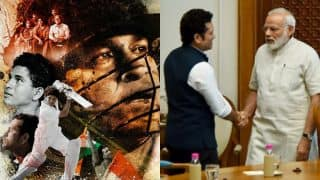 Sachin Tendulkar and wife Anjali meet PM Narendra Modi ahead of his film Sachin: A Billion Dreams' release! See pics on Instagram