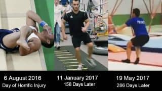 Remember Samir Ait Said who suffered horrific leg injury at Rio Olympics 2016? Watch French Gymnast's recovery in this inspirational video!
