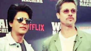 Shah Rukh Khan wishes good luck to Brad Pitt for War Machine in style!