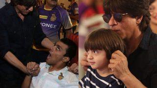Shah Rukh Khan and AbRam celebrate 10 years of Kolkata Knight Riders at VIVO IPL 2017 (See Pictures)