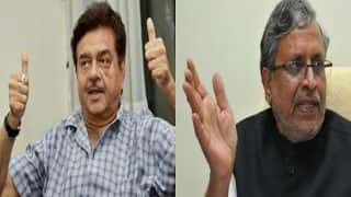 Shatrughan Sinha and Sushil Modi get into war of words on Twitter over Lalu-Kejriwal comments