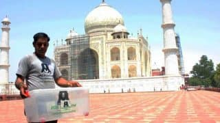 6-foot-long snake at Taj Mahal in Agra causes panic among tourists (Watch Video)